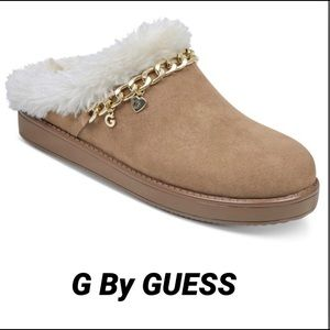 G by GUESS FUR LOGO CAIN LINK LOAFER